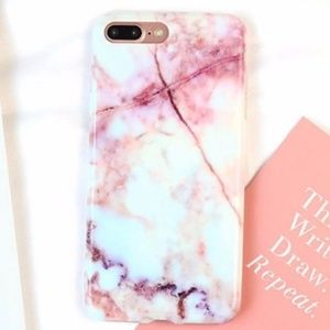 Accessories - NEW IPhone 7+/8+/7/8/6+/6 Pink Marble Soft Case